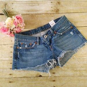 Lucky Brand Denim Daisy Duke Shorts Size 6